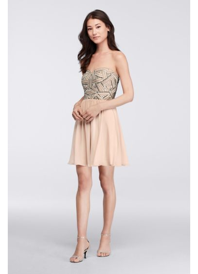 Short A-Line Strapless Cocktail and Party Dress - Decode 18