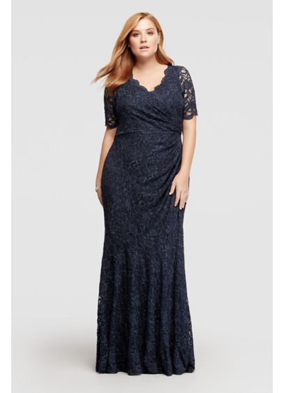 Long Mermaid/ Trumpet Elbow Sleeves Mother and Special Guest Dress - Decode 18