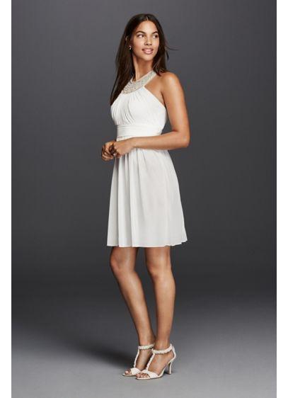 Short A-Line Halter Dress - DB Studio