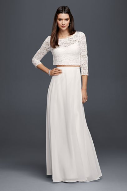 Long Chiffon Skirt | David's Bridal