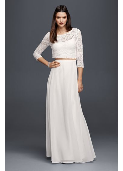 Long chiffon skirt davids bridal long separates beach wedding dress db studio junglespirit Gallery