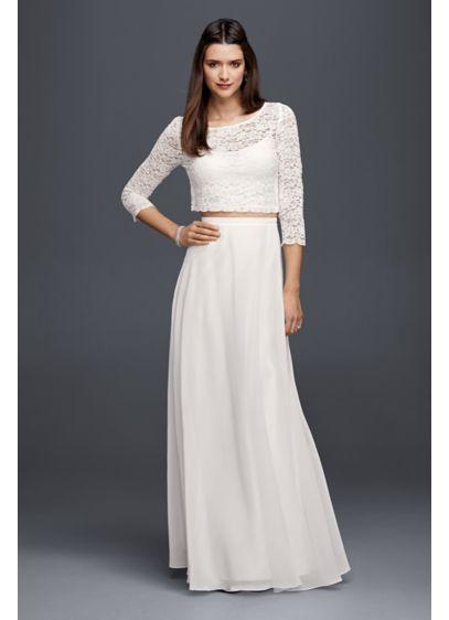 Long Separates Beach Wedding Dress
