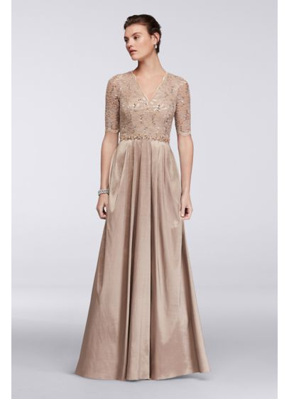 Long Ballgown Elbow Sleeves Mother and Special Guest Dress - Decode 18