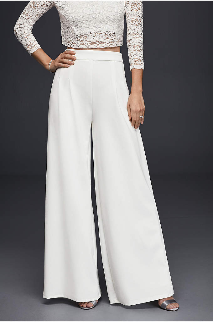 Crepe Wide-Leg Trousers - These wide-leg, stretch-crepe trousers are a chic outfitting