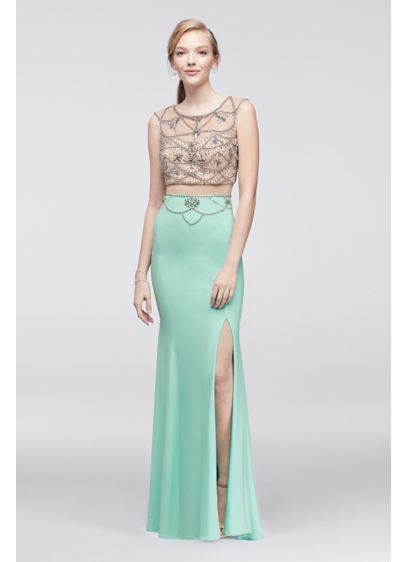 Long Mermaid/ Trumpet Cap Sleeves Prom Dress - Decode 18