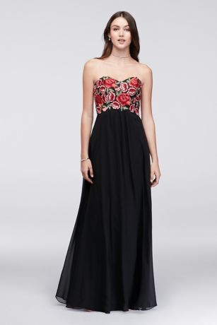 Long black empire waist dresses