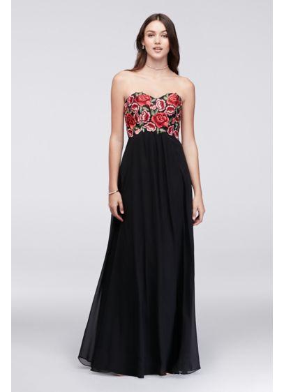 Long A-Line Strapless Formal Dresses Dress - Decode 18