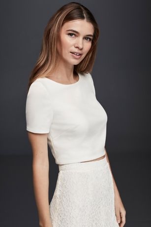 Simple white dresses with sleeves