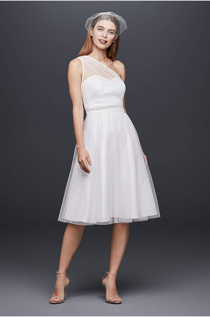 One-Shoulder Short Tulle Fit-and-Flare Dress - A perfect party dress for every event on