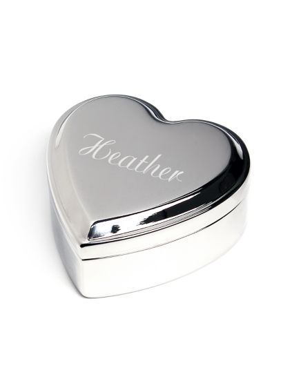 Engraved Silver Heart Keepsake Box - Wedding Gifts & Decorations