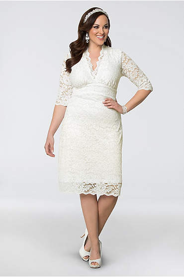 Luxe Lace Plus Size Short Wedding Dress