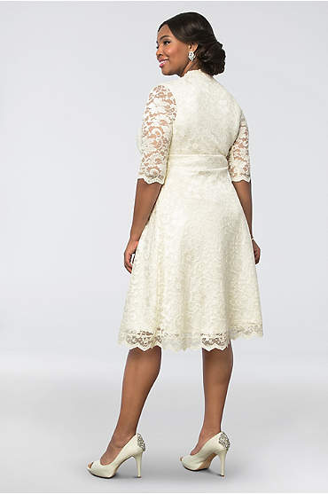 Wedding Belle Plus Size Short Dress