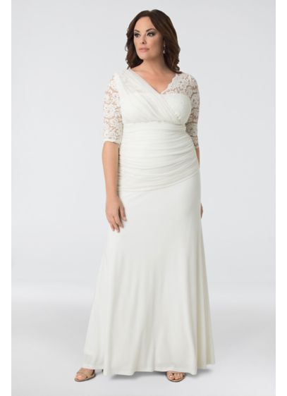 Short Sheath Casual Wedding Dress - Kiyonna