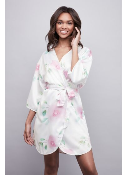 Soft Floral Satin Robe - Wedding Gifts & Decorations