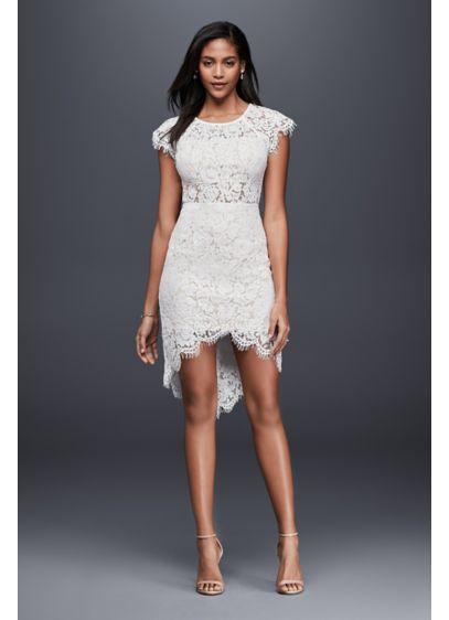 Short Sheath Beach Wedding Dress - Soieblu