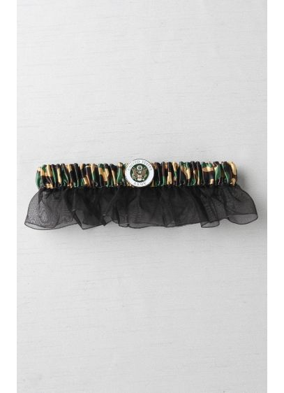 Military-Themed Camouflage Bridal Garter - Wedding Accessories