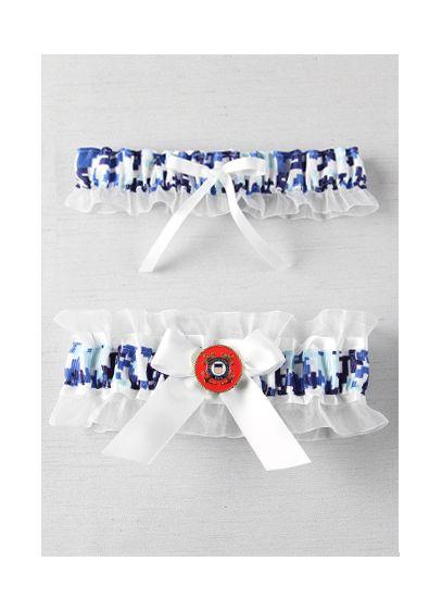 Blue (Military Collection Digital Camouflage Garter Set)
