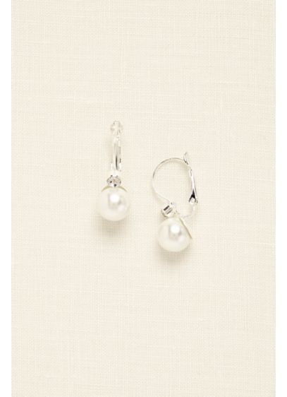 Pearl and Rhinestone Drop Earring - Wedding Accessories