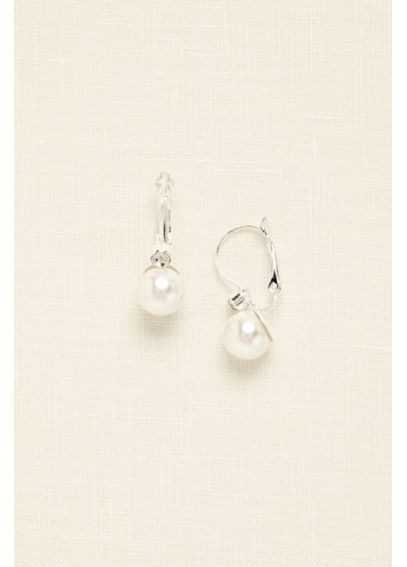 Pearl and Rhinestone Drop Earring 20001629ER