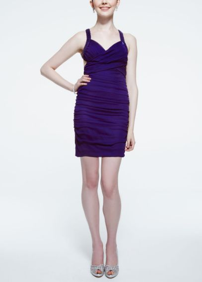 Sleeveless Short Jersey Dress with Open Back 201C54040