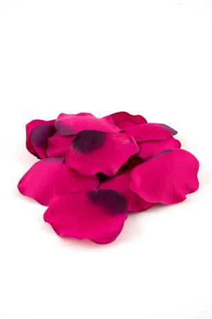 silk rose petals pink