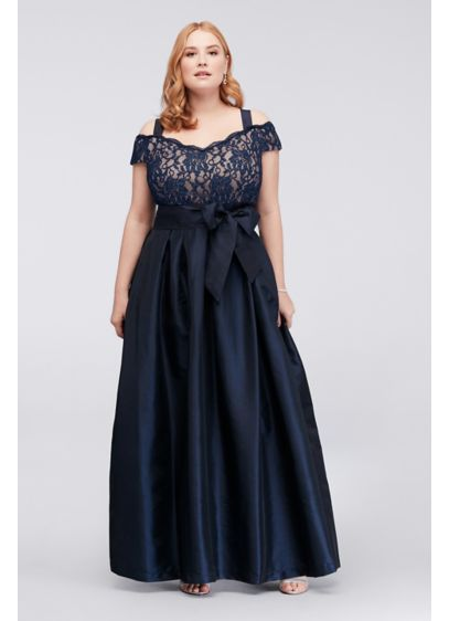 Long Blue Soft & Flowy RM Richards Bridesmaid Dress