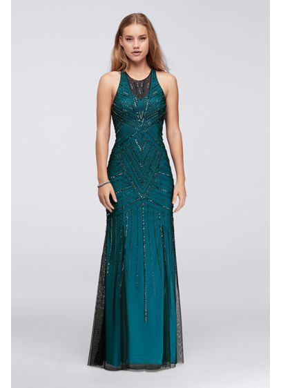 Long Mermaid/ Trumpet Halter Prom Dress - Sean Collections