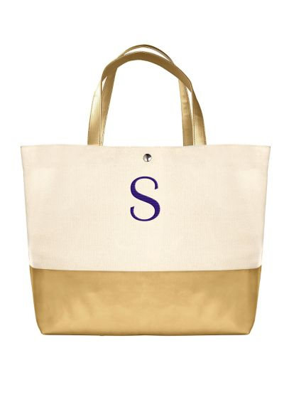 DB Exclusive Personalized Metallic Dipped Tote Bag - Wedding Gifts & Decorations