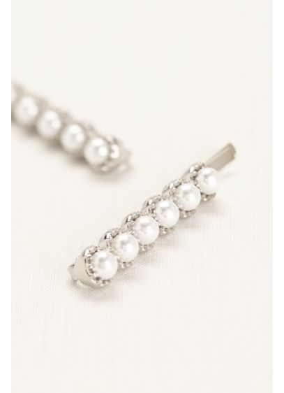 Pave Pearl Duo Hairpin - Wedding Accessories