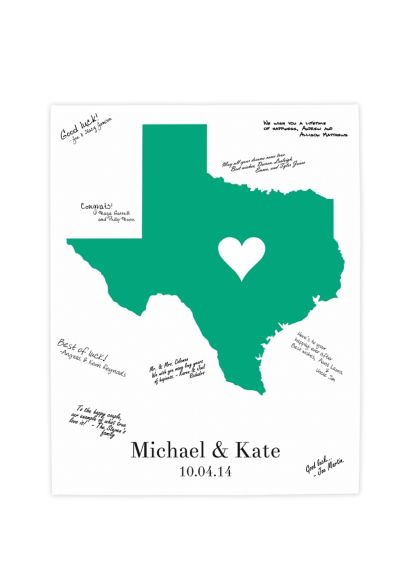 Personalized Home State Canvas Guest Book 2109HSGB