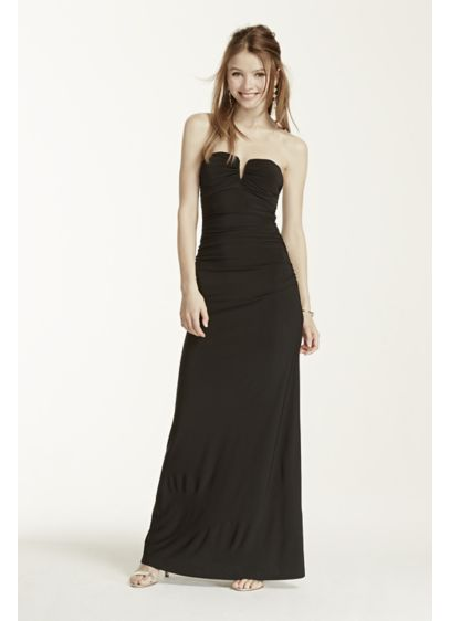 Long Sheath Strapless Prom Dress - Adrianna Papell