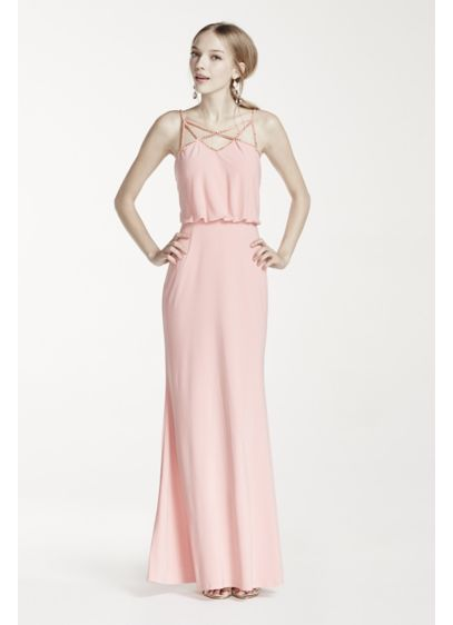 Long Sheath Spaghetti Strap Prom Dress - Hailey by Adrianna Papell