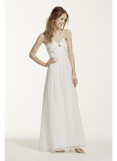 Long A-Line Halter Formal Dresses Dress - Hailey by Adrianna Papell