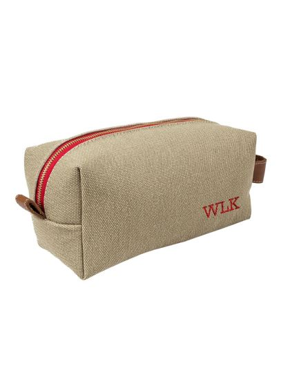 DB Exc Personalized Canvas and Leather Dopp Kit - Wedding Gifts & Decorations