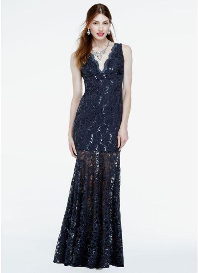 Long Mermaid/ Trumpet Tank Military Ball Dress - Nightway