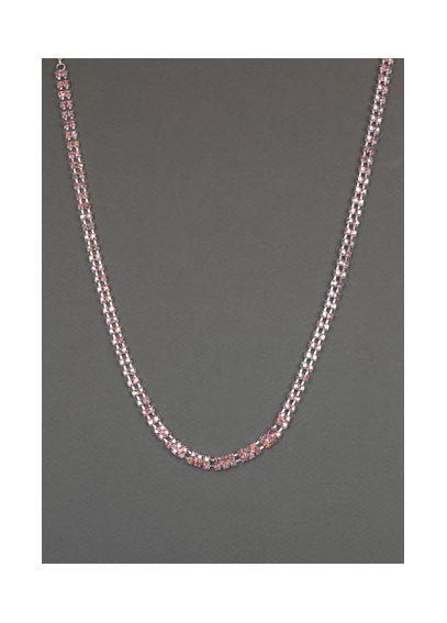Pink Rose Two Strand Crystal Necklace 21283205