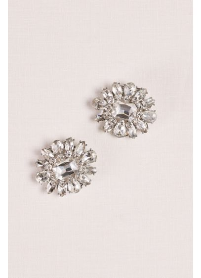 Crystal Flower Shoe Clips - Wedding Accessories