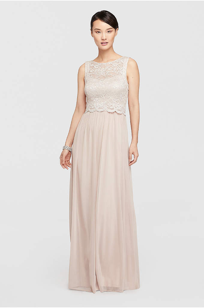 Mock Two Piece Long Dress with Glitter Bodice - A beautiful and airy warm weather look !