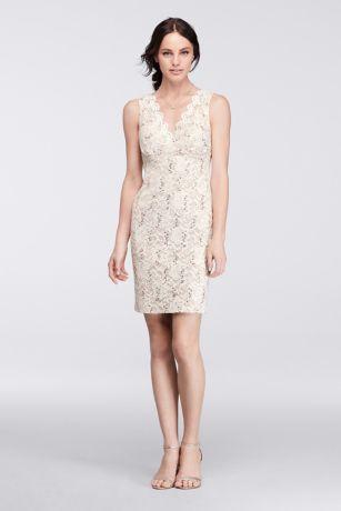 lace short dresses ivory