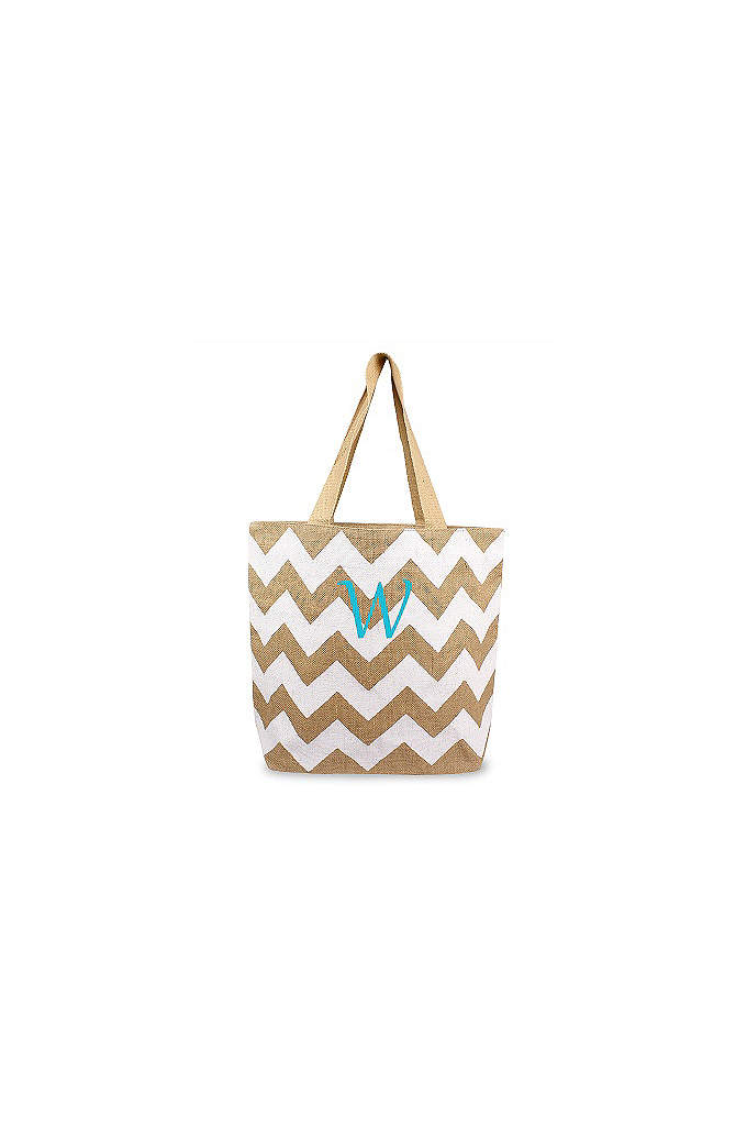 DB Exclusive Personalized Chevron Jute Tote Bag - Large in size and incredibly useful in function,