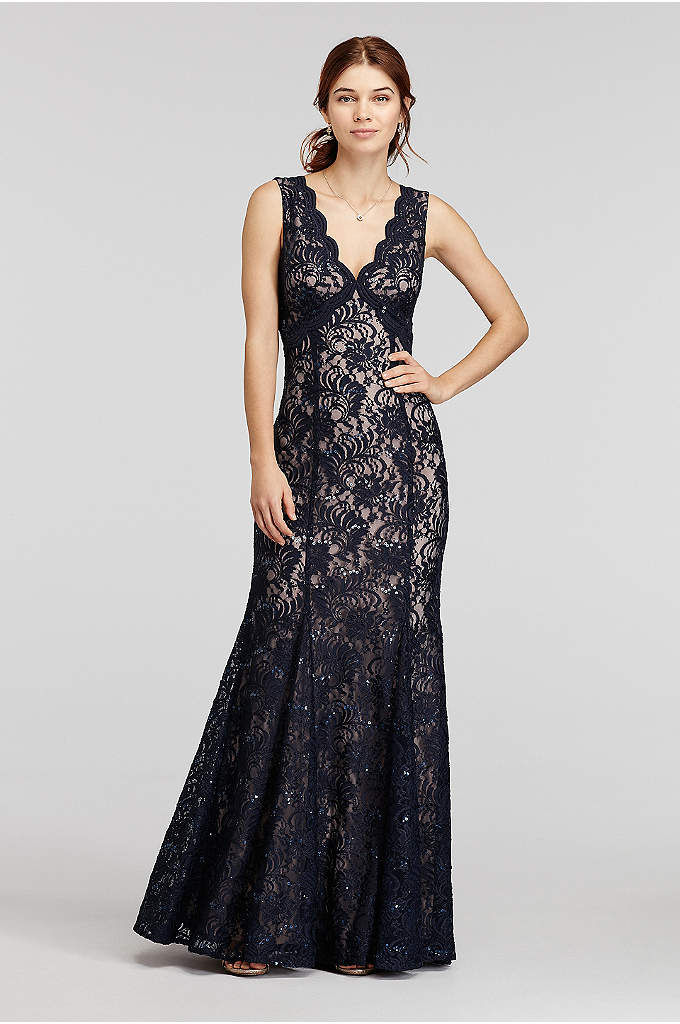 All Over Sequin Lace Dress with Open Back - A must-have, timely dress for your favorit special