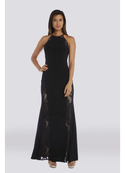 Long Sheath Halter Prom Dress - Morgan and Co