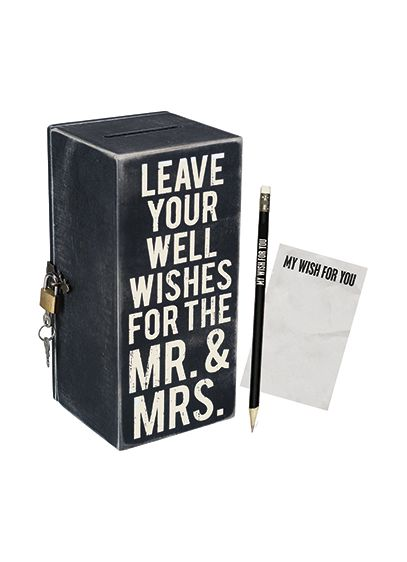 Mr. and Mrs. Wish Box - Wedding Gifts & Decorations