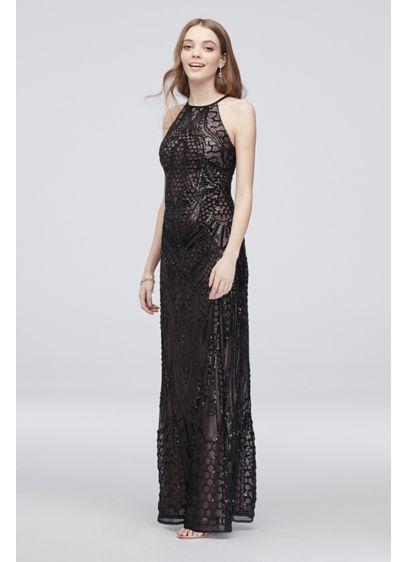 Long Sheath Halter Formal Dresses Dress - Nightway
