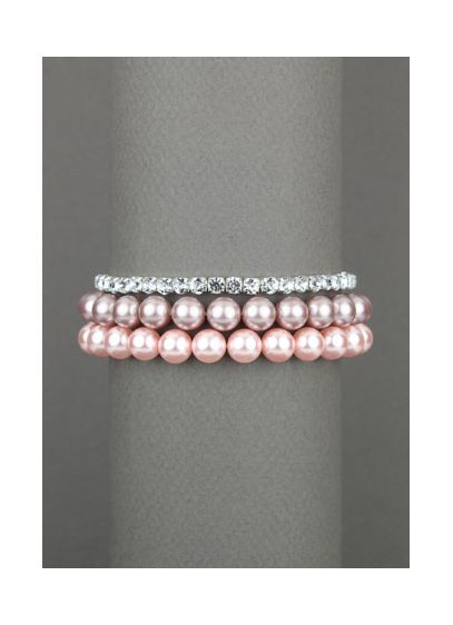 Pink Pastel and Clear Bracelet - Wedding Accessories