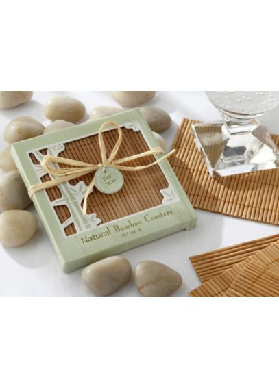 Eco-Friendly Bamboo Coaster Set of 4 22014NA