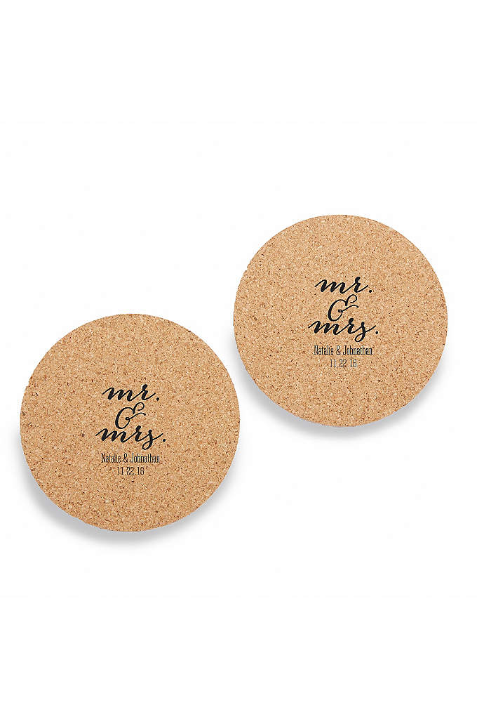 Personalized Mr and Mrs Cork Coasters Set of - Scatter these Personalized Mr & Mrs Cork Coasters