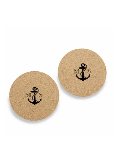 Personalized Nautical Cork Coasters Set of 12 - Wedding Gifts & Decorations