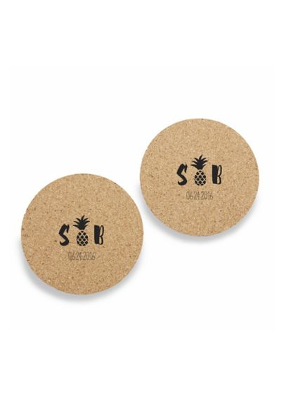 Personalized Palms Cork Coasters Set of 12 22056NA-PP