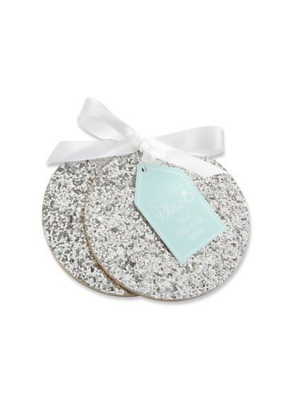 Silver Sparkle Coasters - Wedding Gifts & Decorations